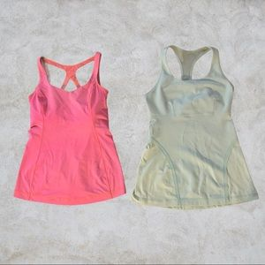 Two Lululemon Athletic Tank Tops Size 4 and 6
